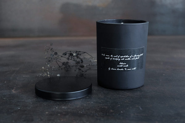 black silk scented candle