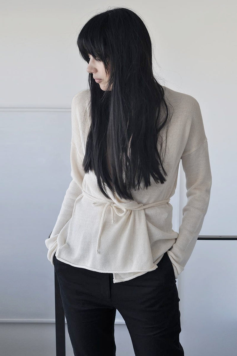 FITTED KNITTED CARDIGAN - CREAM / MOCHA / BLACK