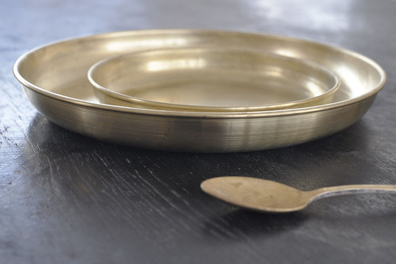 Rounded Brass Plate