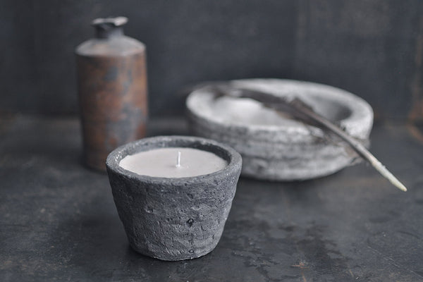 concrete scented candle