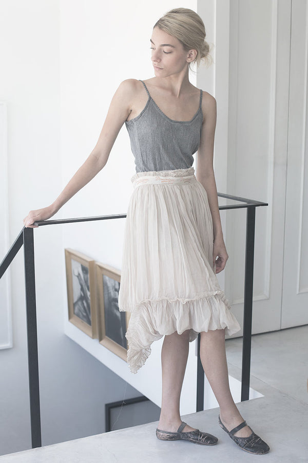 BALLERINE TANK - WHITE/NUDE/DARK GREY/BLACK