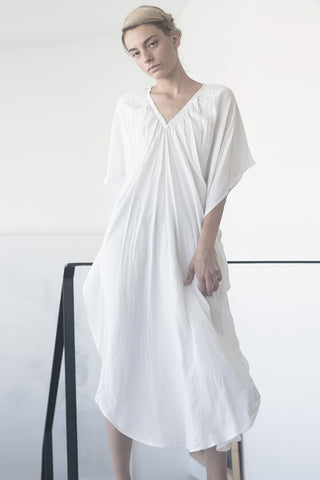 oversize galabiya dress - black/white/dark grey