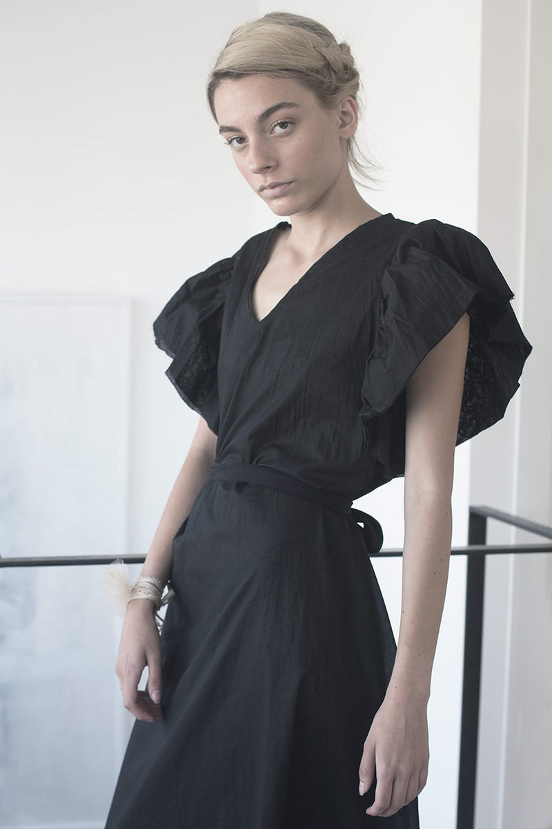 Oversized dress | maxi silk dress | maxi black dress | cocktail dresses | evening dresses | night dresses | long black dress | oversized dress trend | Maxi summer 2017 dresses | Designer dresses online | Israeli clothing brands | Israeli fashion designers | Handmade in Tel Aviv | Maxi dress | Long Dress |  Black Dress | Beach Dresses | Linen Dress | Dresses Online Shopping | Shopping Mall Tel Aviv | Yafo Tel Aviv Fashion | Israel Online Shopping | flea market jaffa fashion studio - black - 5