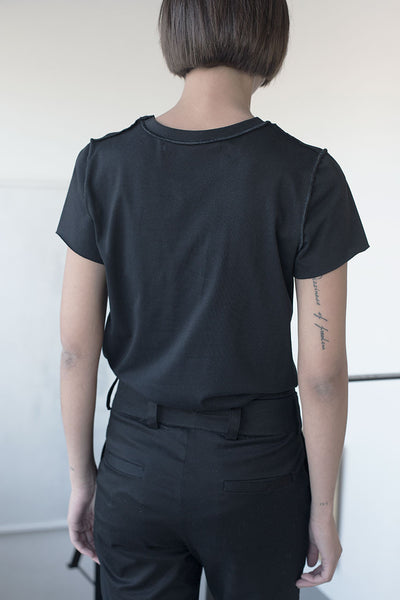 Babylock Jewel-neck T Shirt - Black