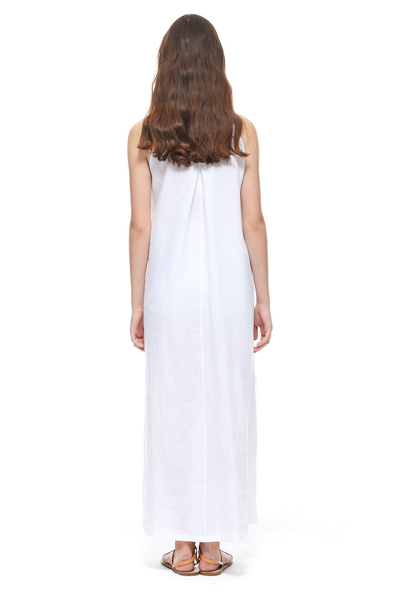 SIDE TIE DRESS - WHITE