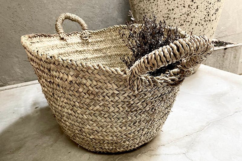two handle large basket