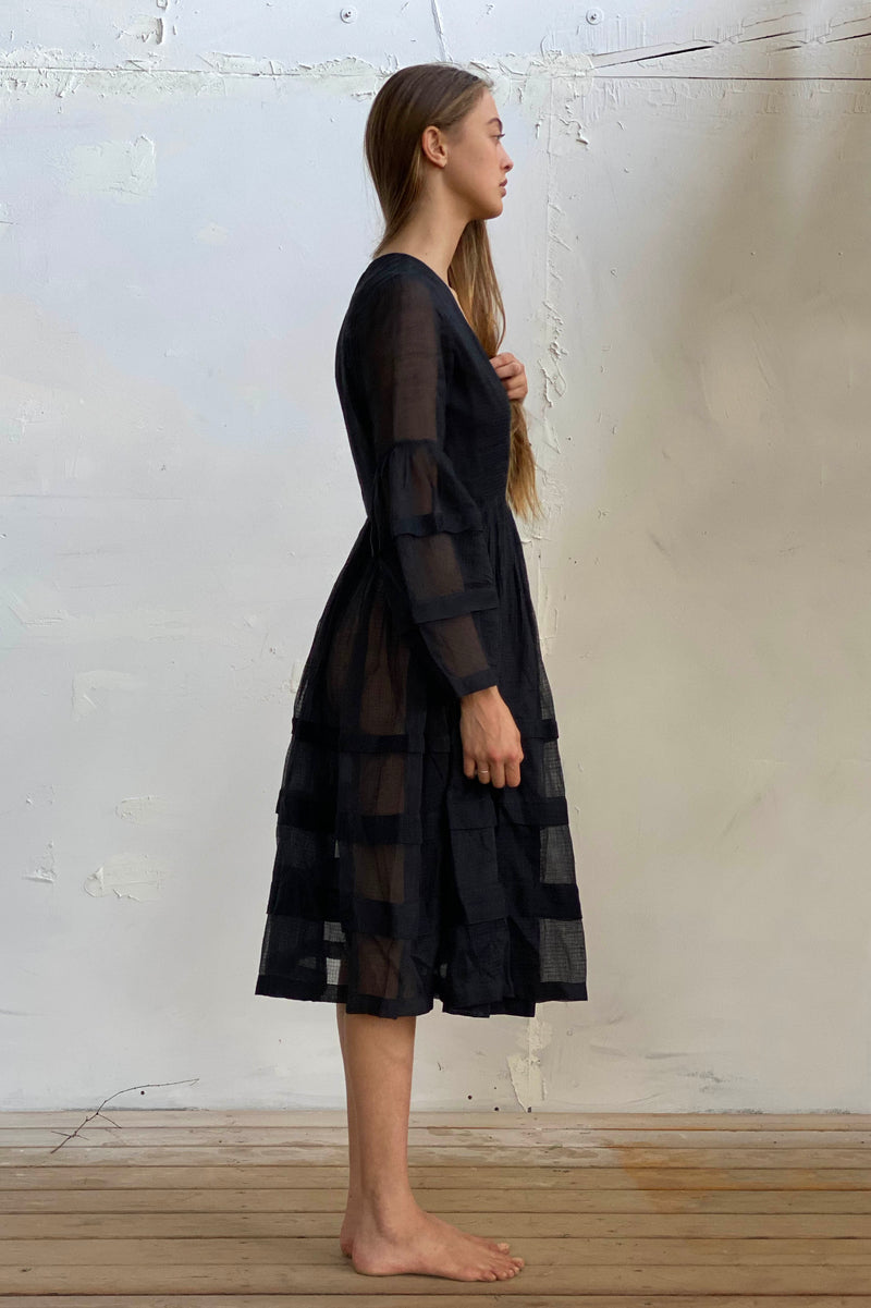 Rachel Dress - Natural / Black