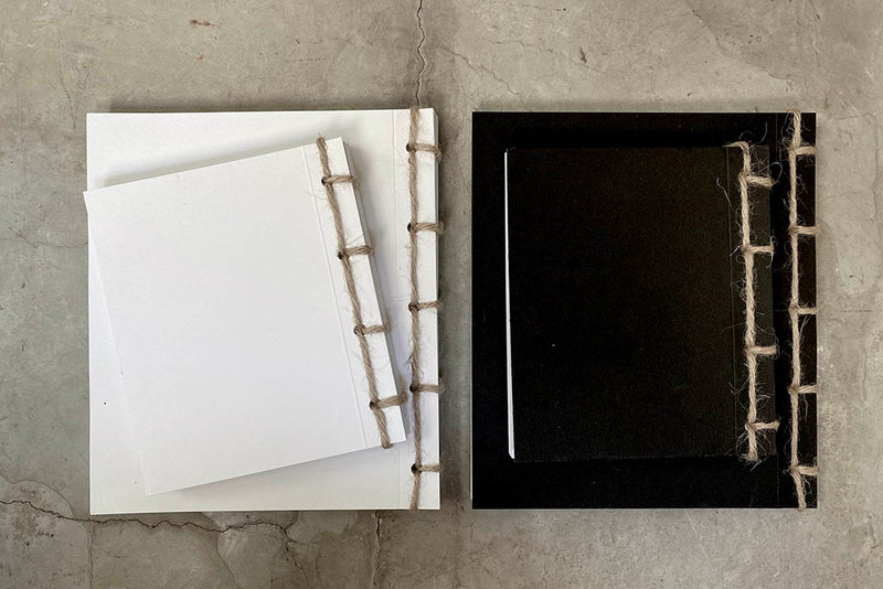 JAPANESE NOTEBOOK - BLACK / WHITE