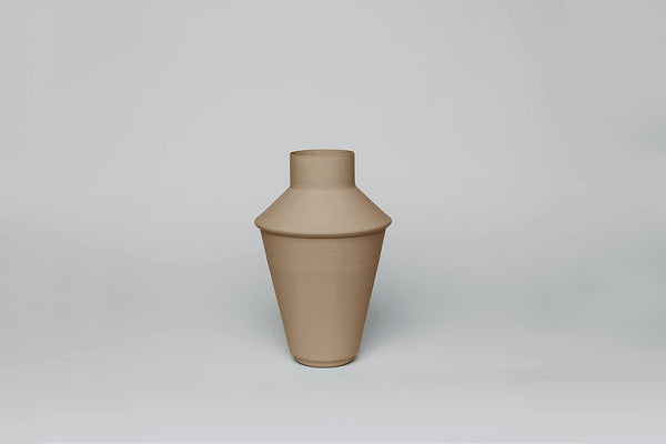 Decorative Metal Vase 04 - Nude / Stone