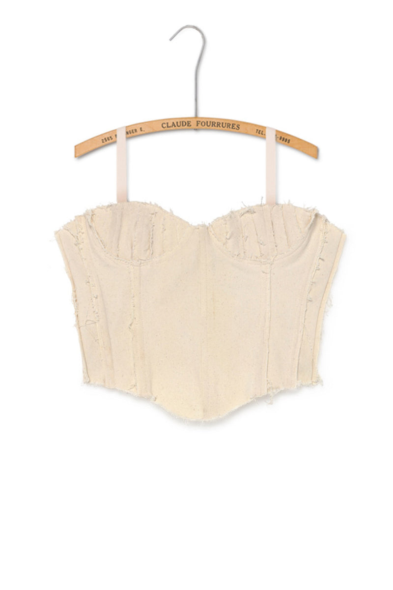 Balconette Corset - Cream / Black