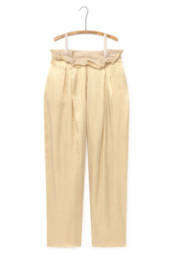 Pleated Trousers - Champagne