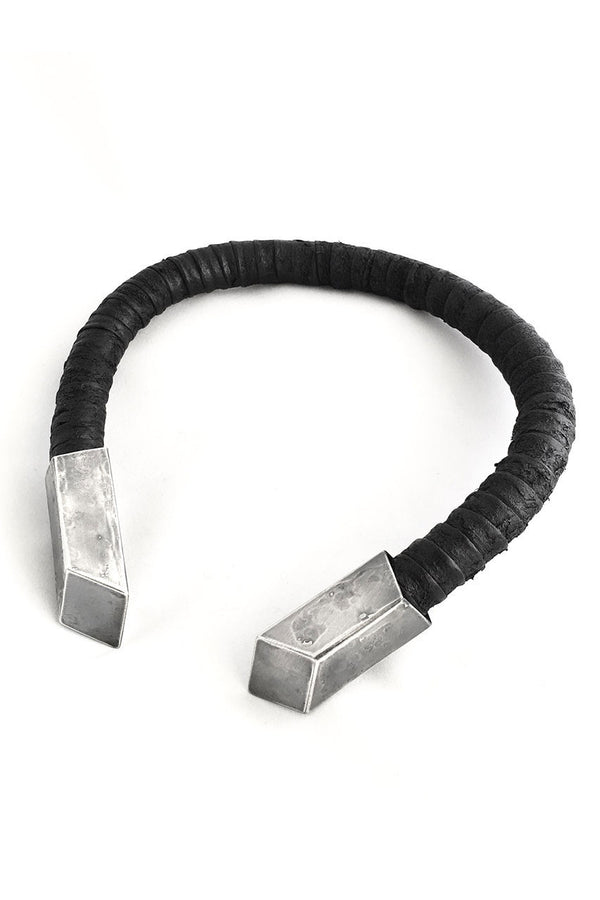 Leather Necklace with silver plated ends