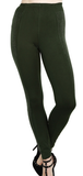 Olive Leggings W/Side Stones