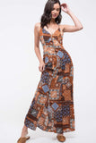 Maxi Dress Rust Multi