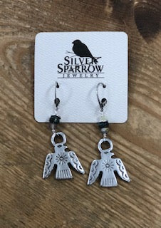 Silver Sparrow Earrings - Native Eagle