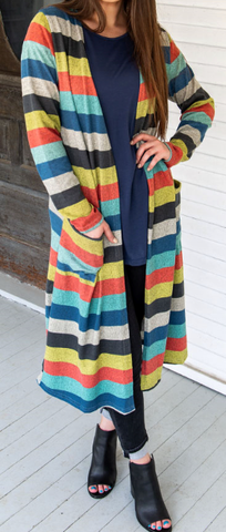 Stripe Up the Band Duster