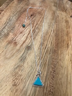 Triangle Turquoise Necklace