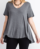 Short Sleeve Top with Stones - Plus