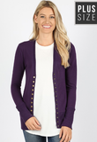 Plus Snap Front Cardigan