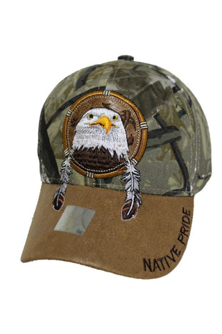 Eagle Leather Patch Ball Cap