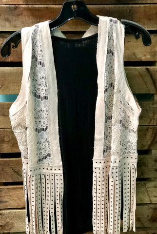 Fringe and Lace Vest