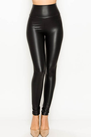 Faux Leather High Waist Legging
