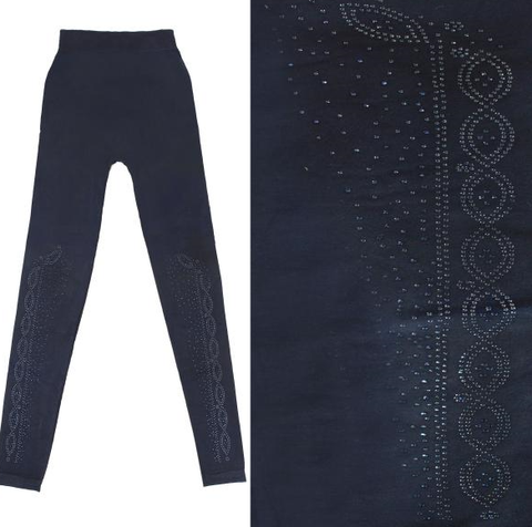 Leggings Navy w/Blue Jewels