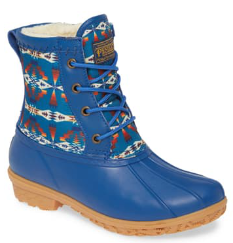 Tucson Print Duck Boot - Navy