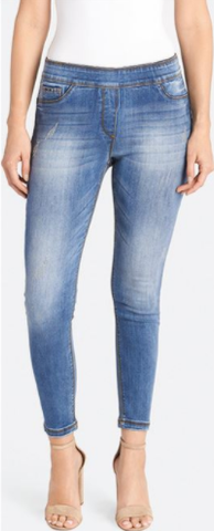 OMG Distressed Skinny Ankle Jeans