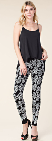 Skull Leggings with Pockets