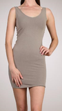 Plus V/Scoop Neck Tank Dress