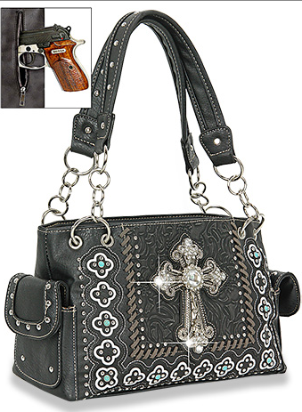 Western Rhinestone Cross Conceal Carry