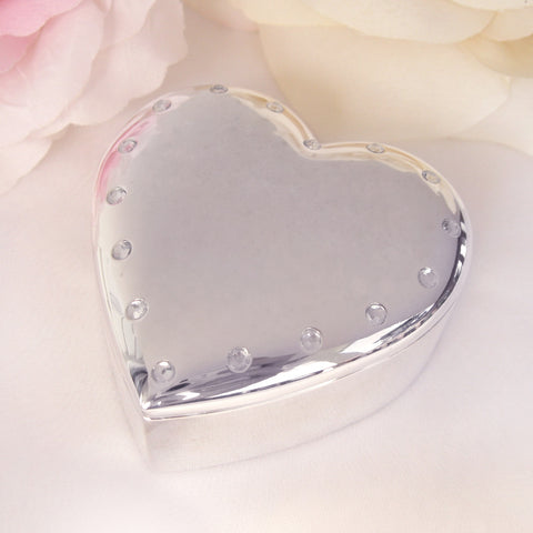 Crystal Beaded Heart Jewelry Box 26135