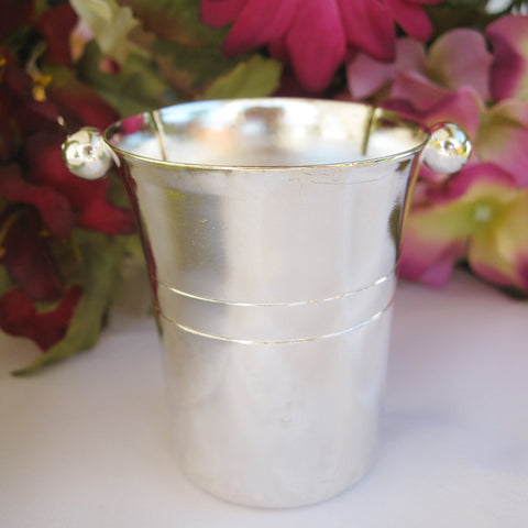 Silver Champagne Mini Bucket Place Card Holder Favor 3882