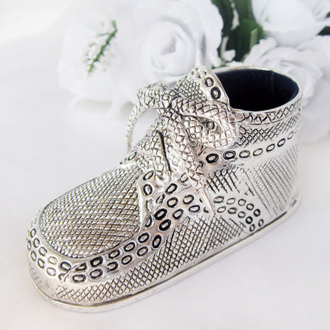 Silver Baby Bootie Favor 82281