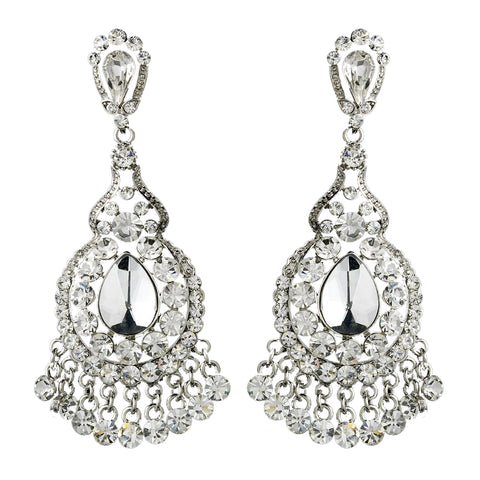 Clear Crystal Bridal Wedding Chandelier Bridal Wedding Earrings E 989