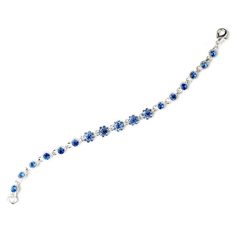 Bridal Wedding Bracelet 5790 Silver Blue