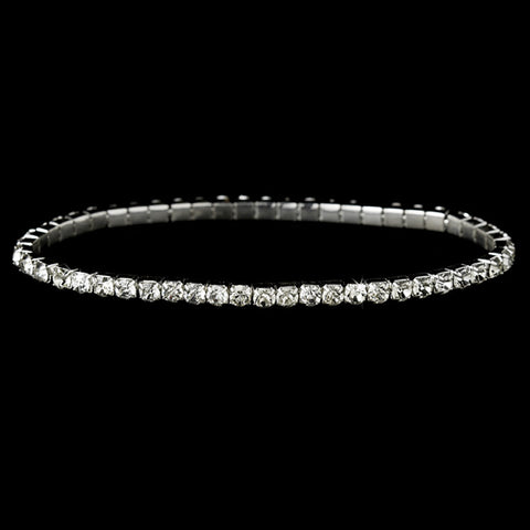 Charming Rhinestone Stretch Bridal Wedding Bracelet 8011