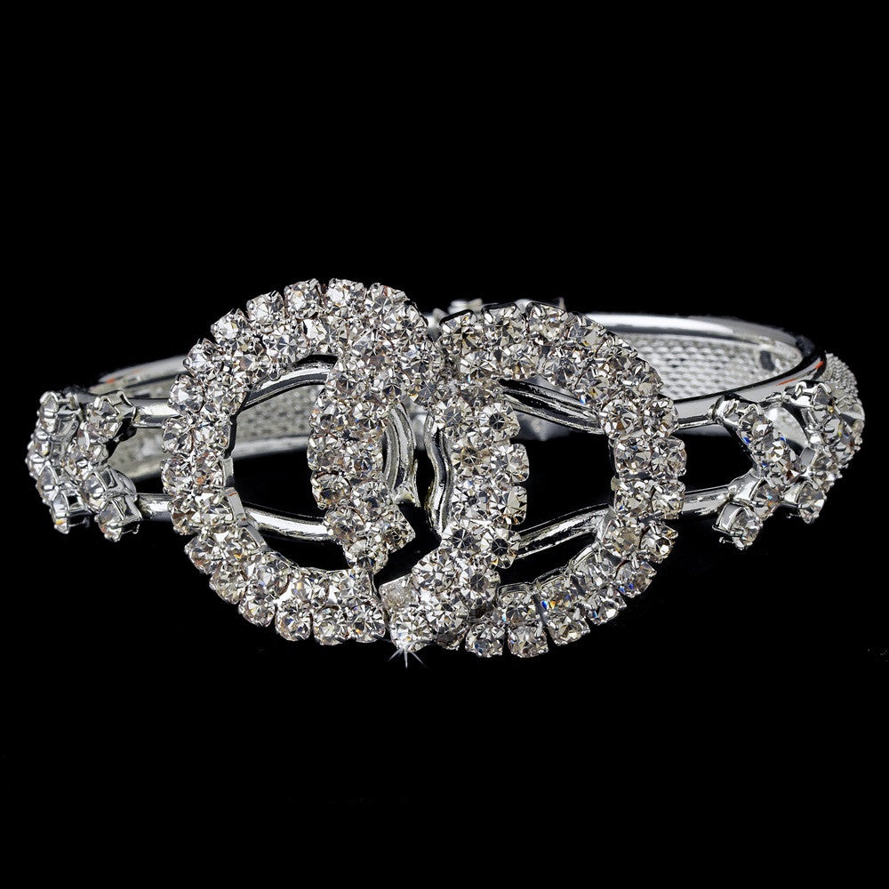 Bridal Wedding Bracelet 8279 Silver Clear