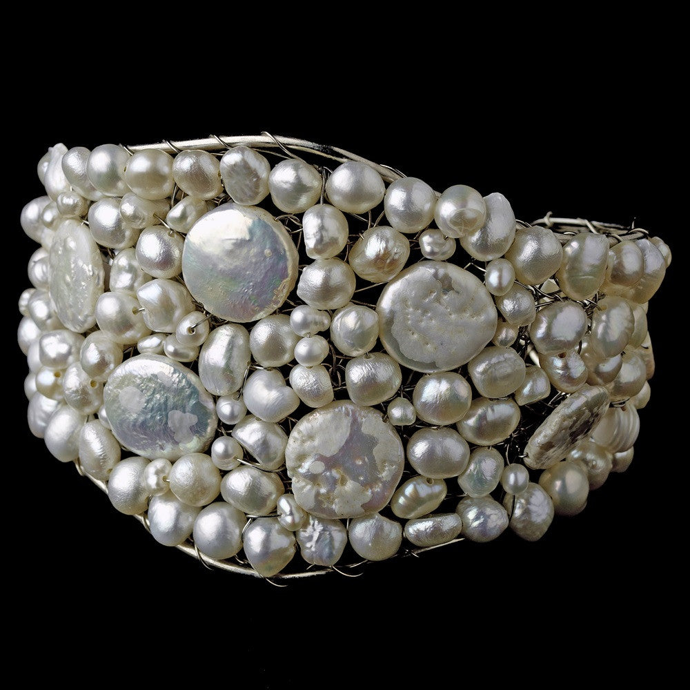 Bridal Wedding Bracelet 8379 Silver Pearl