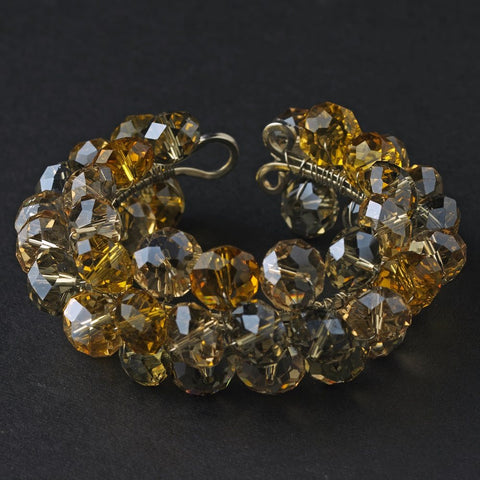 Bridal Wedding Bracelet 8381 Gold Citrine