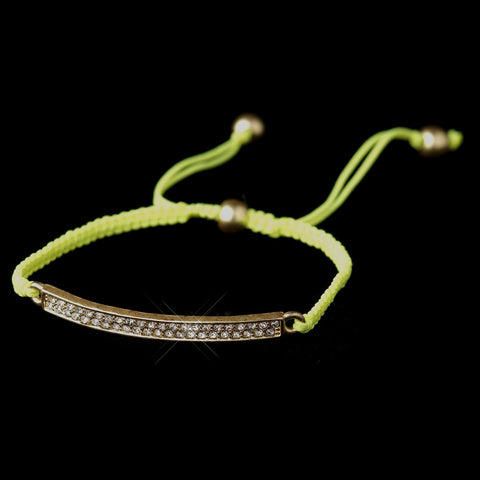 B 8819 Gold Yellow String Bridal Wedding Bracelet