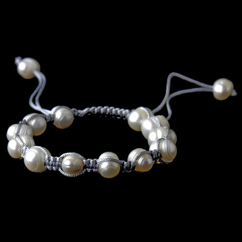 Freshwater Pearl String Bridal Wedding Bracelet 9008