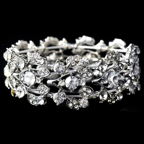 Leaf Design Wedding Bridal Wedding Bracelet 930