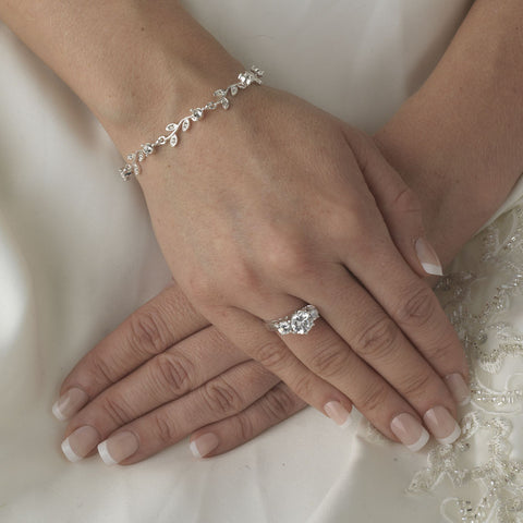 Vine Rhinestone Bridal Wedding Bracelet 97