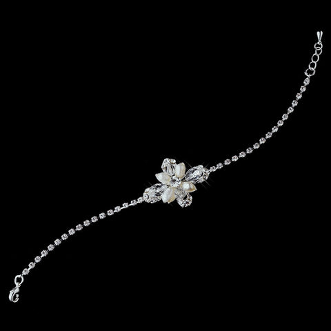 Silver Bridal Wedding Bracelet 970