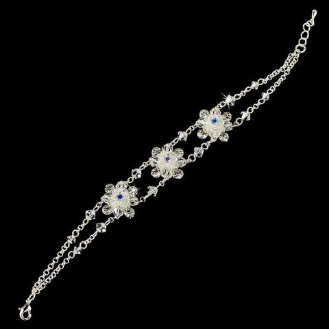 Bridal Wedding Bracelet 971 Silver Clear AB
