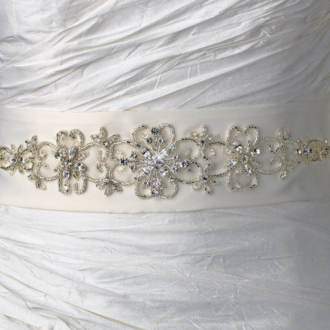 Beautiful Beaded Bridal Wedding Sash Belt 20
