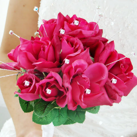 Crystal and Rhinestone Bridal Wedding Bouquet Jewelry BQ 208