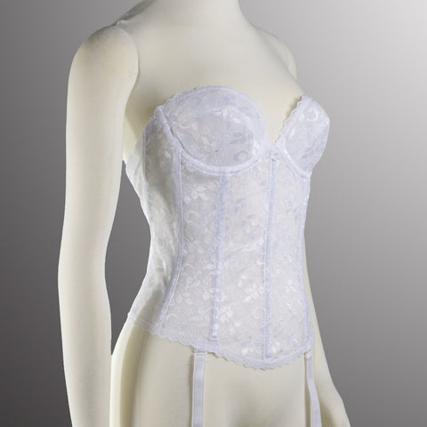 Lace Long Line Bra 313 White